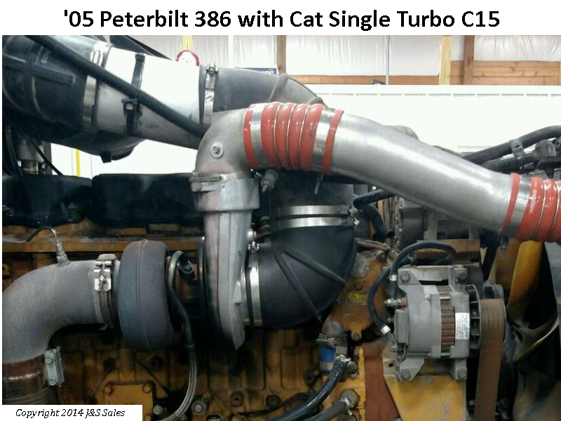 Peterbilt 386 Cat C15 Single Turbo Conversion