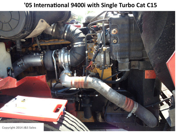 International 9400i Cat C15 Single Turbo Conversion