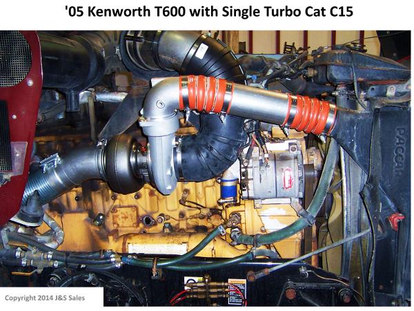 Kenworth T600 Cat C15 Single Turbo Conversion