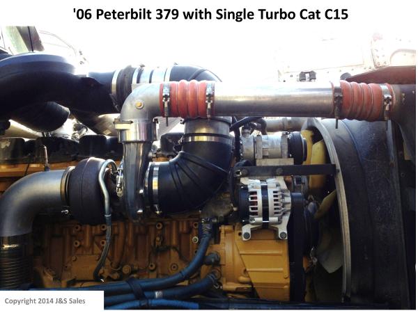 Peterbilt 379 Cat C15 Single Turbo Conversion