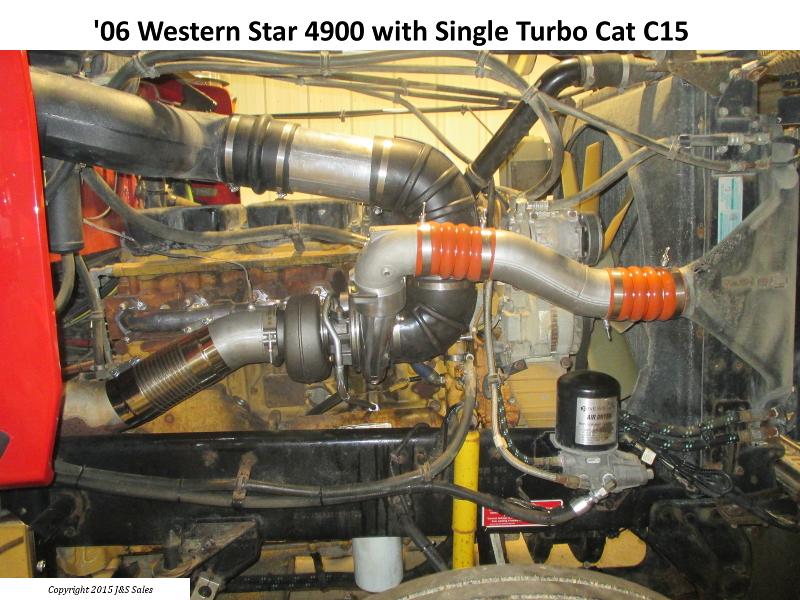 Western Star 4900 Cat C15 Single Turbo Conversion
