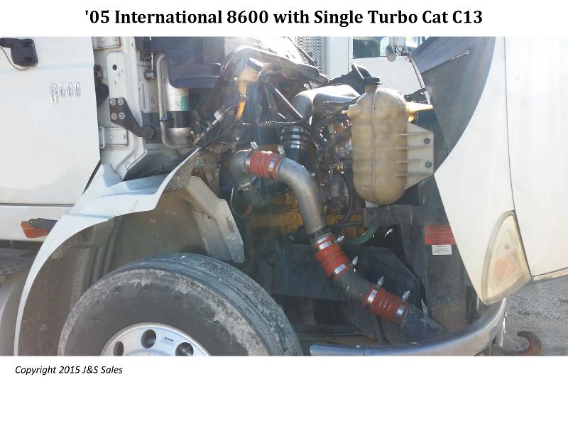 International 8600 Cat C13 Single Turbo Conversion Kit