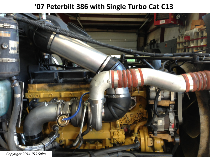 Peterbilt 386 Cat C13 Single Turbo Conversion