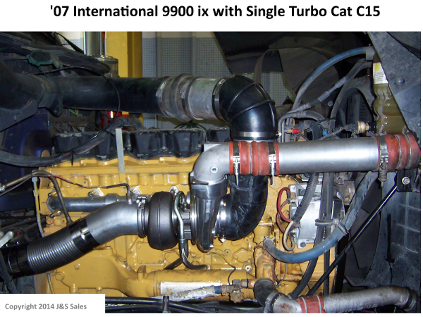 07 9900ix International Single Turbo Cat C15 web cat c 15 acert single turbo conversion kit  at nearapp.co
