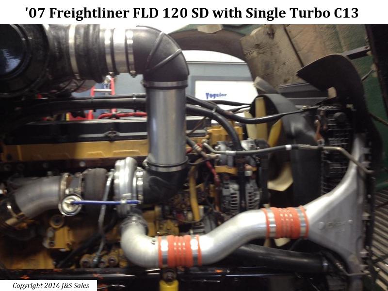 Freightliner FLD 120 SD Cat C13 Single Turbo Conversion