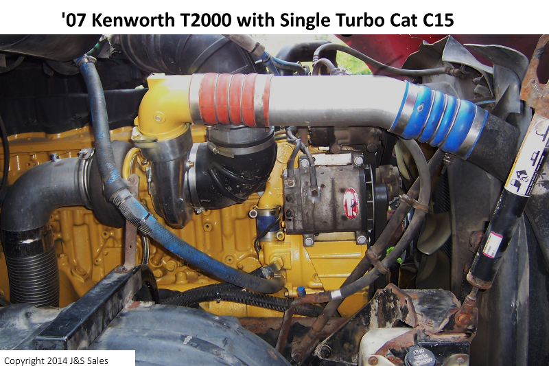 07 T2000 Kenworth Single Turbo Cat C15 web cat c 15 acert single turbo conversion kit cat conversion wire harness at fashall.co